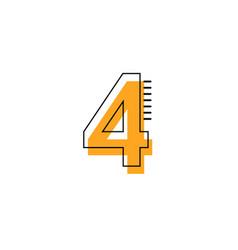 4 year anniversary template design vector
