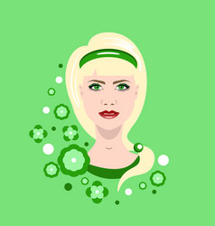 a beautiful young girl on vector image