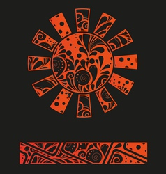abstract graffiti sun design template or vector image