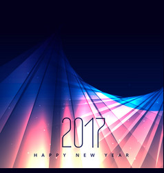 abstract shiny background for 2017 happy new year vector image