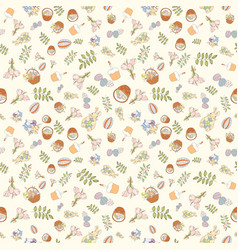 Assortment easter seamless pattern vector