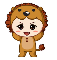 Baby lion vector