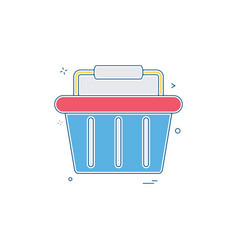 basket buy cart shop shopping shopping basket vector image