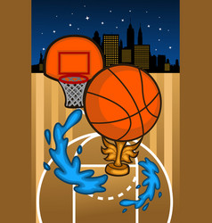 basketball background template vector image
