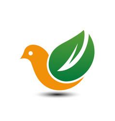 bird eco business logo vector image