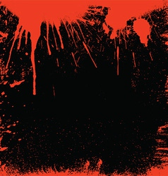 bloody border vector image
