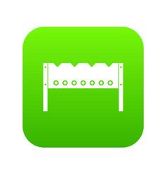 brazier icon digital green vector image