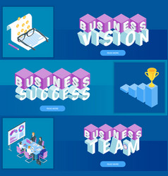 business banners set 04 vector image