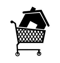 cart house buy icon vector image