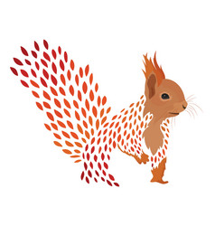 cartoon squirrel stylized redhead protein vector image