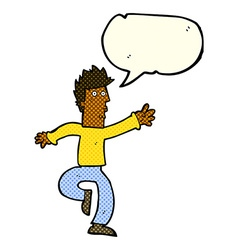 Cartoon urgent man with speech bubble vector