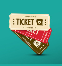 cinema tickets paper movie ticket symbol vector image