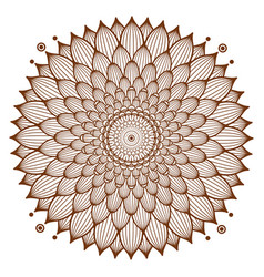 Circle floral ornament henna tattoo style vector