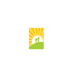 climb success icon logo vector image
