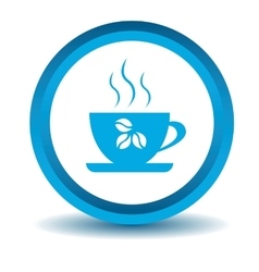 Coffee cup icon blue 3D vector