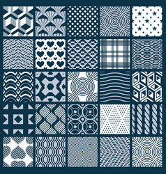 collection of abstract seamless compositions vector image