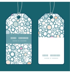 Colorful bubbles vertical stripe frame pattern vector