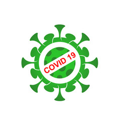 Covid19-19 icon design style on white background vector