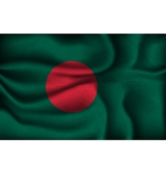crumpled flag of Bangladesh on a light background vector image