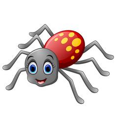 Cute spider cartoon vector