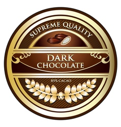 Dark Chocolate Label vector