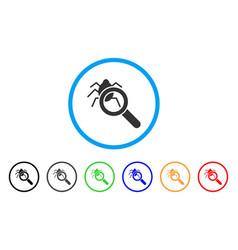 Debugger explorer rounded icon vector