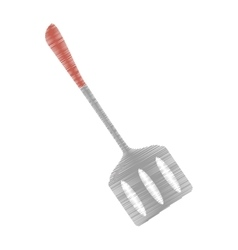 Drawing spatula kitchen and cooking utensils vector