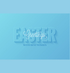 easter banner happy easter sign on blue vector image