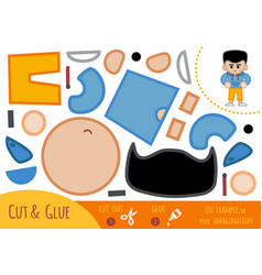 Education paper game for children boy in hoody vector