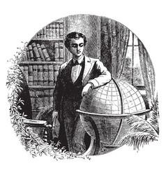 Edwin j houston author vintage engraving vector