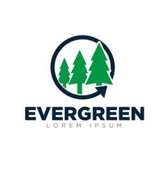 Evergreen logo designs modern simple vector