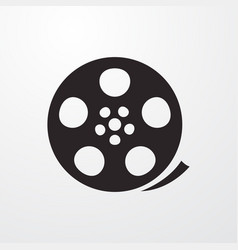 Film reel sign icon reel symbol flat icon vector