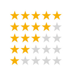 five stars customer product rating review icon for vector image