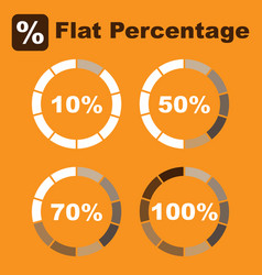 Flat percentage icon pack image vector