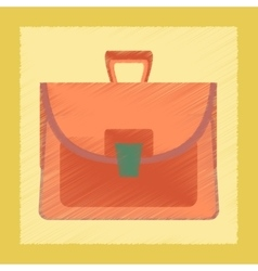 flat shading style icon school bag case vector image