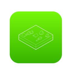 flood icon green vector image