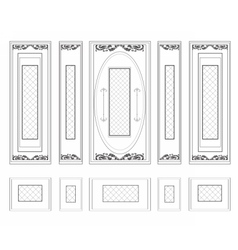 Frames with wainscoting ornament vector image