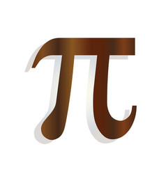 Greek letter pi - mathematical symbol icon vector