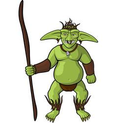 Green goblin shaman vector