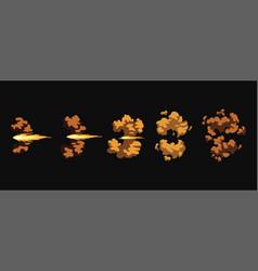 Gun flashes or gunshot animation cartoon flash vector