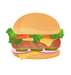 Hamburger classic burger american food vector