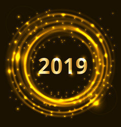 happy new year 2019 celebration concept vector image