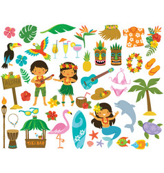 hawaii tropical clipart vector image