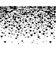hearts confetti on white background vector image