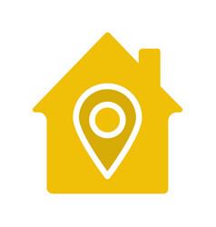 home location glyph color icon vector image
