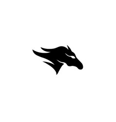 Horse head run for knight racer symbol for logo vector