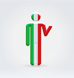Italian symbolic citizen icon vector image