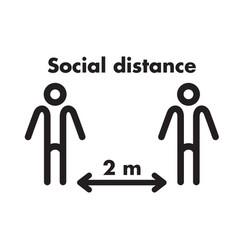 Keep distance social vector