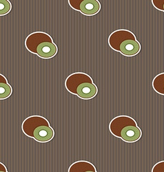 Kiwi pattern Seamless texture with ripe Kiwi vector image