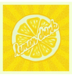 lemon drink background vector image